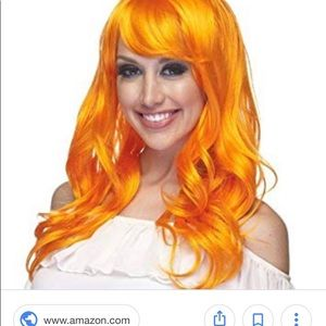Orange Costume Wig